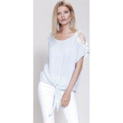 Bluzki asymetryczne: Jasnoniebieska Bluzka Some Lace