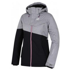 Hannah Tia Anthracite/Frost Mel 36. Brązowe kurtki damskie narciarskie marki Hannah. W wyprzedaży za 429,00 zł.