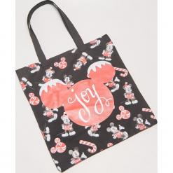 Materiałowa torba Mickey Mouse - Wielobarwn. Szare torebki klasyczne damskie House, z motywem z bajki, z materiału. Za 25,99 zł.