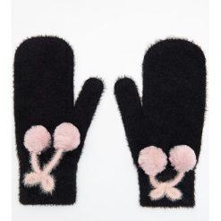Rękawiczki jednopalczaste - Czarny. Czarne rękawiczki damskie marki Cropp. Za 49,99 zł.