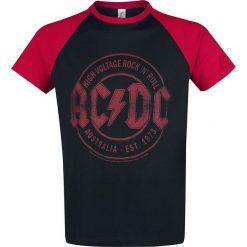 AC/DC Red Black Logo T-Shirt czarny/czerwony. Czarne t-shirty męskie AC/DC, l. Za 79,90 zł.