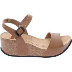 Buty damskie: Sandały w kolorze jasnobrązowym