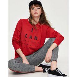 Bluza z nadrukiem - Czerwony. Czerwone bluzy z nadrukiem damskie Sinsay, l. Za 39,99 zł.