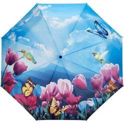 """Parasole: Parasol """"Tulip Sonata"""" w kolorze niebieskim ze wzorem"""
