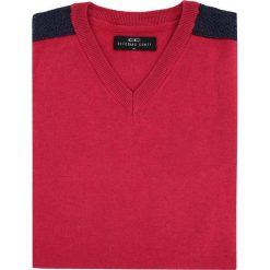 Sweter FABRIZIO K SWT000064. Czerwone swetry klasyczne męskie marki Giacomo Conti, na jesień, m, z bawełny. Za 199,00 zł.
