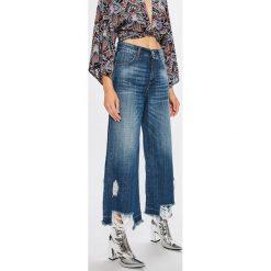 Answear - Jeansy Boho Bandit. Szare jeansy damskie z wysokim stanem marki ANSWEAR, l, z poliesteru, z długim rękawem, długie. W wyprzedaży za 89,90 zł.