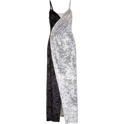 Sukienki: Sukienka aksamitna bonprix czarno-szary