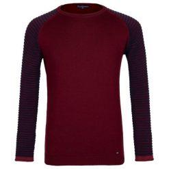 Paul Parker Sweter Męski L Burgundowy. Fioletowe swetry klasyczne męskie marki Reserved, l, z bawełny. Za 169,00 zł.