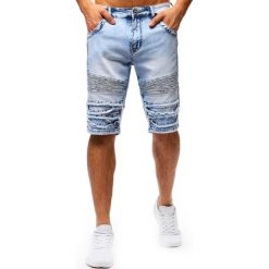 Spodenki i szorty męskie: Spodenki męskie jeansowe niebieskie (sx0672)