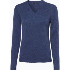 Franco Callegari - Damski sweter z wełny merino, niebieski. Zielone swetry klasyczne damskie marki Franco Callegari, z napisami. Za 229,95 zł.