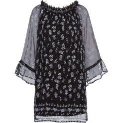 Sukienki hiszpanki: Sukienka z szerokimi rękawami bonprix czarny z nadrukiem