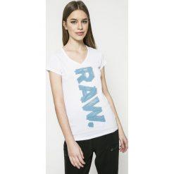 G-Star Raw - Top Thilea. Szare topy damskie marki G-Star RAW, l, z nadrukiem, z bawełny. W wyprzedaży za 89,90 zł.