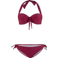 Stroje dwuczęściowe damskie: Bikini na fiszbinach (2 części) bonprix bordowy