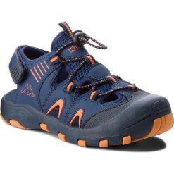 Sandały męskie skórzane: Sandały KAPPA – Taken K 260585K Navy/Orange 6744