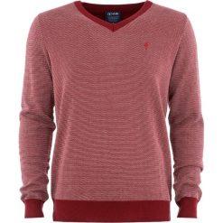 Sweter męski. Czerwone swetry klasyczne męskie Ochnik, m, z bawełny, z klasycznym kołnierzykiem. Za 129,90 zł.