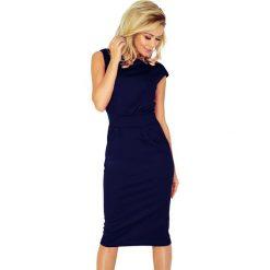 Sukienka z podwyższonym stanem sf-144-4. Niebieskie sukienki balowe marki SaF, xl, ołówkowe. Za 139,90 zł.