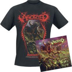 Aborted TerrorVision CD + T-Shirt standard. Czarne t-shirty damskie Aborted, l, z bawełny. Za 109,90 zł.