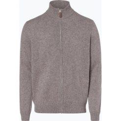Andrew James - Kardigan męski z czystego kaszmiru, beżowy. Brązowe swetry rozpinane męskie Andrew James, m, z kaszmiru, eleganckie, z klasycznym kołnierzykiem. Za 749,95 zł.