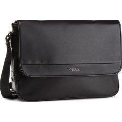 Torba na laptopa GUESS - HM6534 POL84  BLA. Czarne torby na laptopa marki Guess, z aplikacjami, ze skóry ekologicznej. Za 599,00 zł.