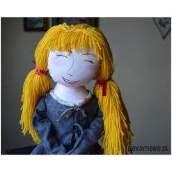 Duża ręcznie wykonana lalka przytulanka. Szare przytulanki i maskotki Pakamera. Za 230,00 zł.