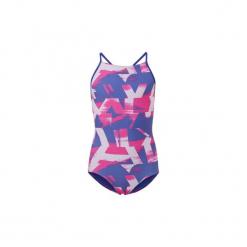 Kostium kąpielowy jednoczęściowy Dziecko adidas  Strój do pływania Allover Print. Niebieskie stroje jednoczęściowe dziewczęce Adidas. Za 129,00 zł.