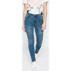 Only - Jeansy. Szare jeansy damskie marki ONLY, s, z bawełny, z okrągłym kołnierzem. W wyprzedaży za 99,90 zł.