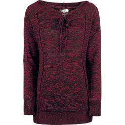 Bluzy damskie: RED by EMP Knitted Melange Hoodie Bluza z kapturem damska czarny/czerwony