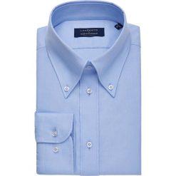 Koszula Niebieska Downtown. Niebieskie koszule męskie na spinki marki LANCERTO, m, z bawełny, button down. W wyprzedaży za 199,00 zł.
