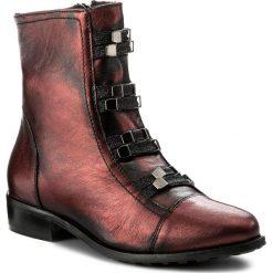 Botki EKSBUT - 67-4757-F95 Bordo/Czarny. Czerwone buty zimowe damskie Eksbut, z materiału. W wyprzedaży za 269,00 zł.