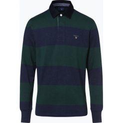 Gant - Męska bluza nierozpinana, zielony. Zielone bluzy męskie rozpinane marki GANT, m, w paski. Za 449,95 zł.