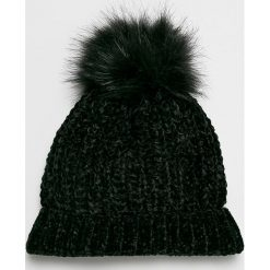 Vero Moda - Czapka. Czarne czapki damskie Vero Moda, na zimę, z dzianiny. W wyprzedaży za 39,90 zł.