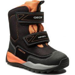 Buty zimowe chłopięce: Śniegowce GEOX – J Orizont B B. Abx F J740BF 01150 C0038 Black/Orange