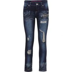 Dżinsy SKINNY bonprix ciemny denim. Niebieskie jeansy damskie marki House, z jeansu. Za 99,99 zł.