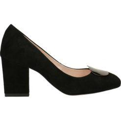 Czółenka LENA. Czarne buty ślubne damskie Gino Rossi, ze lnu. Za 299,90 zł.