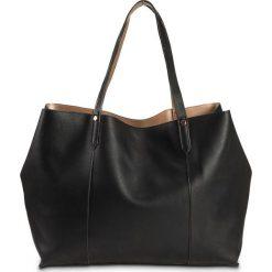 Shopper bag damskie: Torba shopper dwustronna bonprix czarno-kolor czerwonego złota