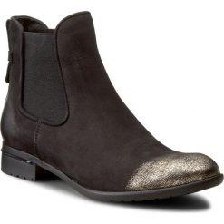 Sztyblety CARINII - B2412/N 360-000-PSK-769. Czarne buty zimowe damskie Carinii, z materiału, na obcasie. W wyprzedaży za 229,00 zł.