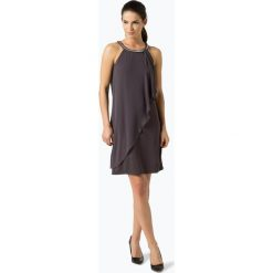 Marie Lund - Damska sukienka wieczorowa, beżowy. Brązowe sukienki hiszpanki Marie Lund, z szyfonu, wizytowe, z krótkim rękawem, mini. Za 579,95 zł.