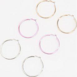 Kolczyki damskie: Okrągłe kolczyki – Wielobarwn