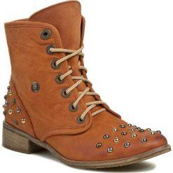 Botki NEŚCIOR - 01-B Brązowy. Brązowe buty zimowe damskie Neścior, z materiału. W wyprzedaży za 199,00 zł.