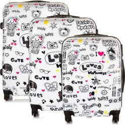 Walizki: Zestaw podróżnych walizek z mocnego POLICARBONU