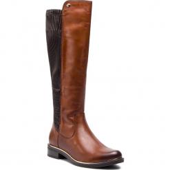 Oficerki CAPRICE - 9-25515-21 Cognac Nappa 303. Brązowe buty zimowe damskie Caprice, z materiału, na obcasie. W wyprzedaży za 379,00 zł.