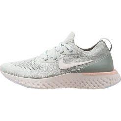 Nike Performance EPIC REACT FLYKNIT Obuwie do biegania treningowe light silver/sail/mica green/crimson tint/phantom. Zielone buty do biegania damskie Nike Performance, z materiału. Za 629,00 zł.