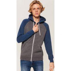 Bluza z kapturem - Niebieski. Niebieskie bluzy męskie rozpinane marki House, l, z kapturem. Za 99,99 zł.