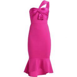 Sukienki hiszpanki: True Violet ONE SHOULDER MIDI DRESS WITH BOW DETAIL Sukienka etui cerise