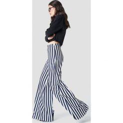 Spodnie z wysokim stanem: Aéryne Paris Spodnie Lea – White,Multicolor,Navy