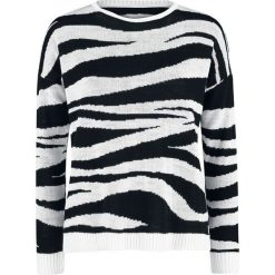 Outer Vision Zoe Zebra Jaquard Sweater Sweter damski czarny/biały. Białe swetry klasyczne damskie Outer Vision, l. Za 164,90 zł.