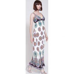 Sukienki hiszpanki: Biała Sukienka Indian From South