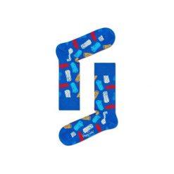 Skarpetki Happy Socks - Logs (LOG01-6000). Szare skarpetki męskie Happy Socks, w kolorowe wzory, z bawełny. Za 34,90 zł.