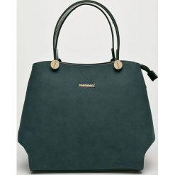 Monnari - Torebka. Brązowe torebki klasyczne damskie Monnari, w paski, z materiału, średnie. W wyprzedaży za 139,90 zł.