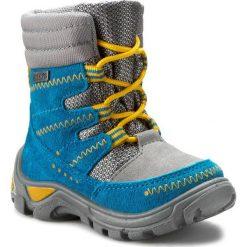 Buty zimowe chłopięce: Śniegowce BARTEK – 51579-0TF Szaro Turkusowy